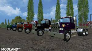 minecraft semi truck ford l9000 semi dyeable mod for farming simulator 2015 15 fs