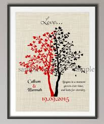 one year wedding anniversary gifts couples wedding anniversary quote canvas painting family tree wall