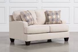 Average Loveseat Size Brielyn Linen Loveseat Living Spaces