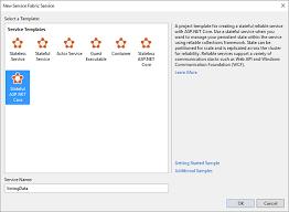 create a net application for service fabric microsoft docs