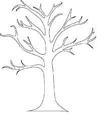 tree without leaves coloring page free download