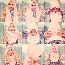 tutorial hijab pashmina kaos yang simple tips hijab praktis ala anak kus sikumu