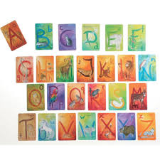 waldorf illustrated alphabet cards letter cards
