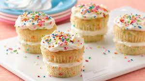 layered sprinkle cupcakes recipe bettycrocker