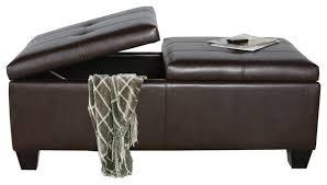lovely leather ottoman storage lyncorn leather storage ottoman