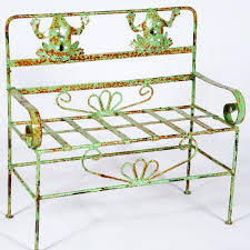 wrought iron child u0027s bench with frogs