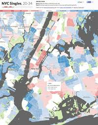 Zip Code Map New York by New York City Singles Organized And Mapped Out By Age Gender And