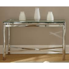 Overstock Sofa Table by Greyson Living Natal Chrome And Glass Sofa Table By Greyson Living