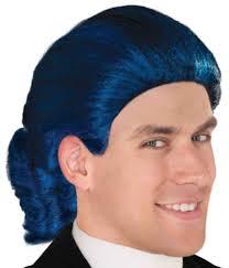 mens blue colonial settler english governor judge wig walmart com