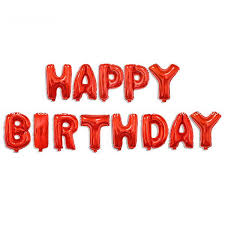 16 inch color happy birthday letters deco foil balloon set