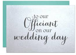 wedding officiant card thank you card to reverend priest judge