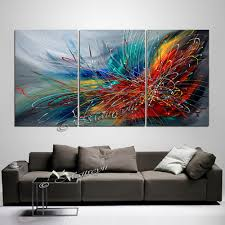 large wall art abstract painting on canvas oil wall decor red