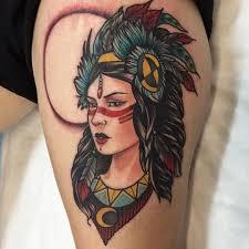 female thigh tattoos 52 female indian chief tattoos