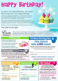 east maitland bowling club birthday cash draw