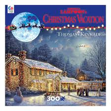 national lampoon u0027s christmas vacation thomas kinkade 300 piece puzzle