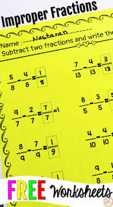 Adding Fractions Worksheets Best 10 Improper Fractions Ideas On Pinterest Math Fractions