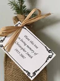 Memorial Service Favors Remembrance Tree Seedlings In Burlap Personalized Sympathy Tree Gift