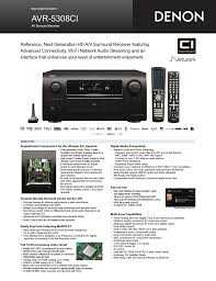 ultimate audio video setup denon avr 5308ci user manual 2 pages