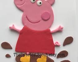 peppa pig cake etsy