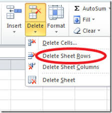 how to delete remove blank rows u0026 columns in excel 2010 spreadsheet