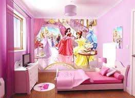 Princess Room Decor Disney Princess Bedroom Decor Princess Wallpaper And Pink Bed For