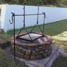 Firepit Grill Pit Grill And Tripod In Place Blacksmith Pinterest