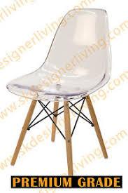 Clear Eames Chair Skdl Replica Clear Eames Dsw Eiffel Dining Chair U0026 Natural Legs Ebay