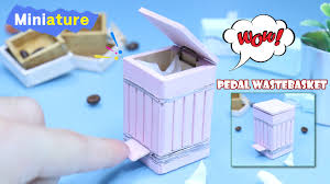 diy miniature how to make pedal wastebasket youtube