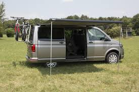 T5 Awning Fiamma F40 Vw T6 Awning 270cm Black Case With A Grey Canopy