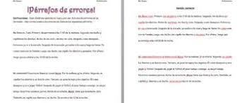 realidades 2 2 a reflexive verb paragraph corrections tpt