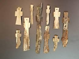 carved wooden crosses driftwood reclaimed wooden crosses 2 10 assorted set of 10