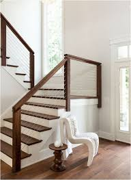 Dark Wood Banister 38 Edgy Cable Railing Ideas For Indoors And Outdoors Digsdigs