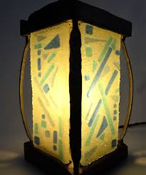 Lantern Table Lamp Handmade Glass U0026 Wood Lantern Table Lamp By Wrought Iron Details