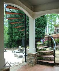 outdoor spiral deck stairs pictures of under porch view from