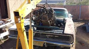 1968 dodge charger engine 1968 dodge restoration on the cheap part1 installing a 360 engine