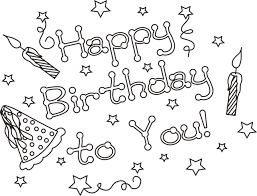 birthday coloring pages boy happy birthday coloring pages for boys with stars coloringstar