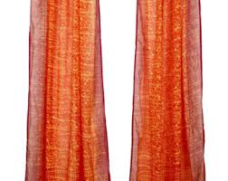 Sari Curtain Fuchsia Curtains Etsy