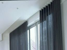 Curtains For Ceiling Tracks Ceiling Mount Curtain Track System Hum Home Review