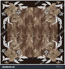texture print fabric striped leopard flower stock illustration