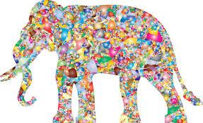 clipart modern art elephant reactivated
