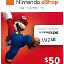 nintendo gift card nintendo eshop gift card 50 switch wii u 3ds digital code