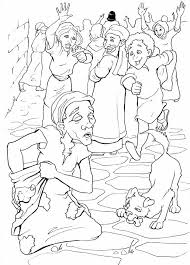 Blind Bartimaeus In The Bible Blind Bartimaeus Coloring Page Funycoloring