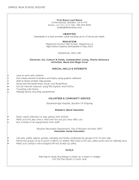 Resume On Pme What To Put On A High Resume Free Resume Example And