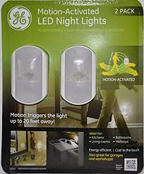 ge led night light ge motion activated led night lights pack of 2 b00mzoqhce