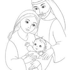 jesus family coloring page archives mente beta most complete