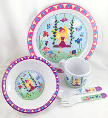 fairy 5 piece dinner set