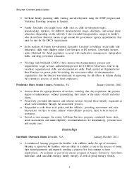 Child Development Resume Kim H Valdes Resume