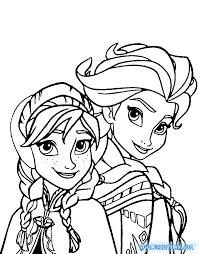 coloring pages elsa anna kids activities
