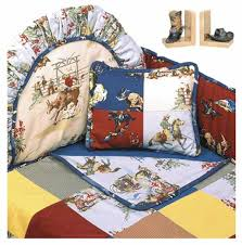 rodeo western themed crib bedding set hollywood bumper by