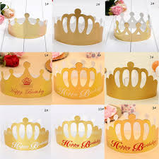aliexpress com buy disposable blank paper birthday crown hat for